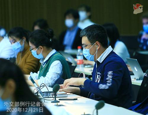 CHINE N° 4 Conférence de presse du 21 décembre 2020 tenue par le porte-parole du Ministère des Affaires étrangères Wang Wenbin