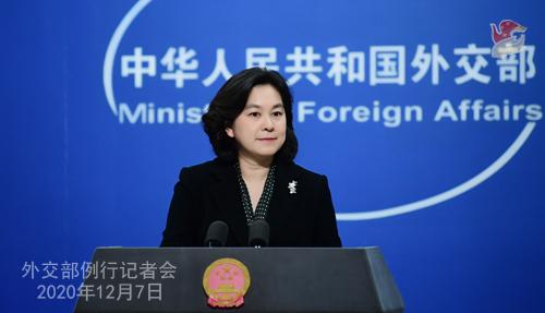 CHINE PH 15 SUR 24 Conférence de presse du 7 décembre 2020 tenue par la porte-parole du Ministère des Affaires étrangères Hua Chunying