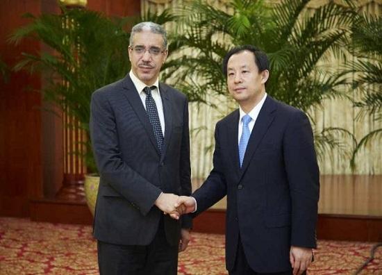 conférence « China Mining 2018 à Tianjin en Chine, Monsieur Aziz RABBAH Ministre de l'Energie, des Mines s'est réuni avec Monsieur Lu Hao, Ministre des ressources ...