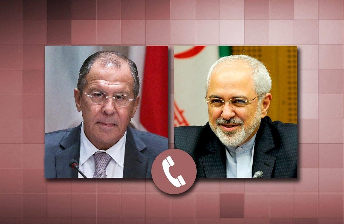 свл-зарифSergueï Lavrov avec le Ministre iranien des Affaires étrangères Mohammad Javad Zarif.