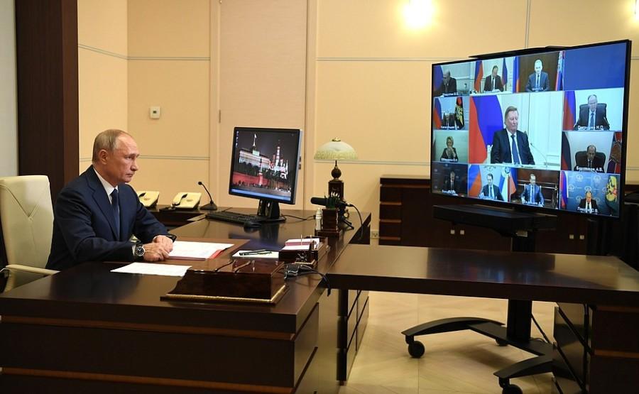 DU 04.12.2020. Réunion avec les membres permanents du Conseil de sécurité 04.12.2020 du 20H