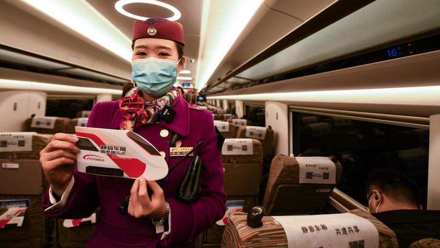 En Chine 4, quelques TGV ont mis en place un service pilote de « wagons silencieux » pour les passagers souhaitant opter pour une expérience de voyage calme et silencieuse.