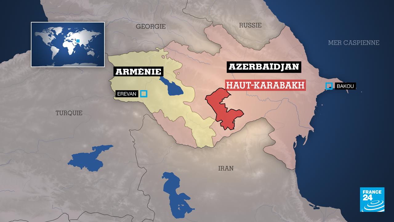 FR carte Azerbaidjan armenie haut karabach