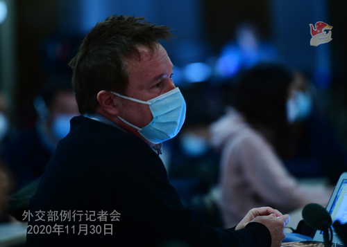 HUA CHUNYING PH 6 DU 30.11.2020 Conférence de presse du 30 novembre 2020 tenue par la porte-parole du Ministère des Affaires étrangères Hua Chunying