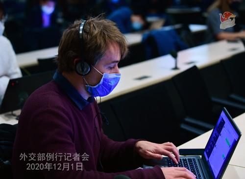HUA CHUNYING PH 9 DU 01.12.2020 Conférence de presse du 01 décembre 2020 tenue par la porte-parole du Ministère des Affaires étrangères Hua Chunying