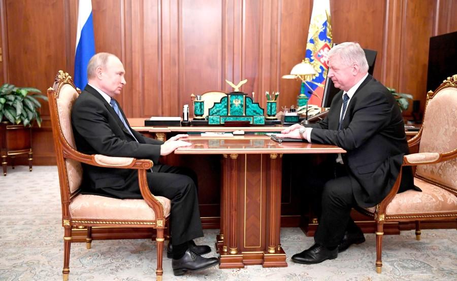 KREMLIN 2 XX 2 Rencontre avec le président de la Fédération des syndicats indépendants de Russie Mikhail Shmakov du 29 décembre 2020