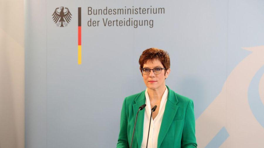 La ministre allemande de la Défense, Annegret Kramp-Karrenbauer,