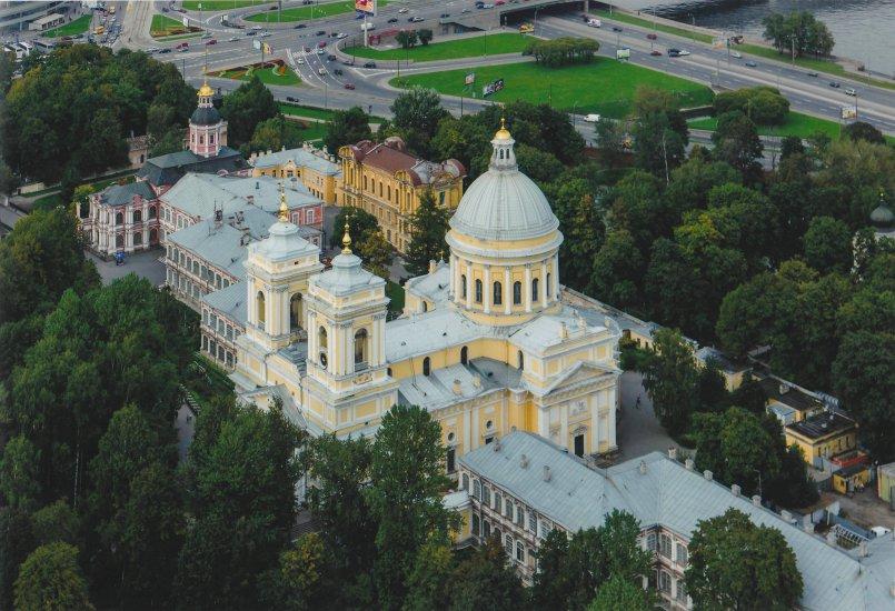 le monastère St Alexander Nevsky à St Petersbourg