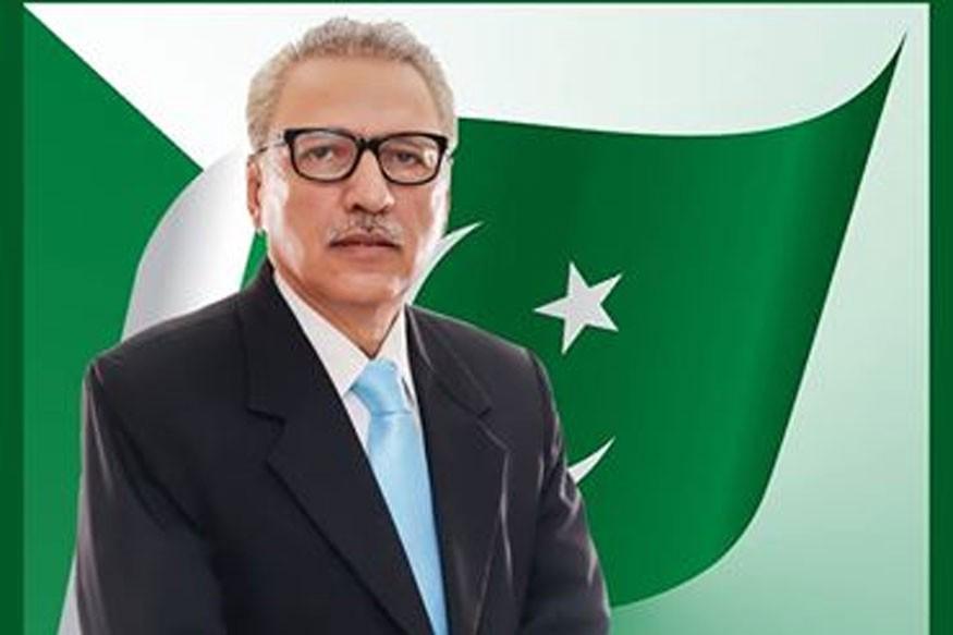 Le Président du Pakistan Arif Alvi