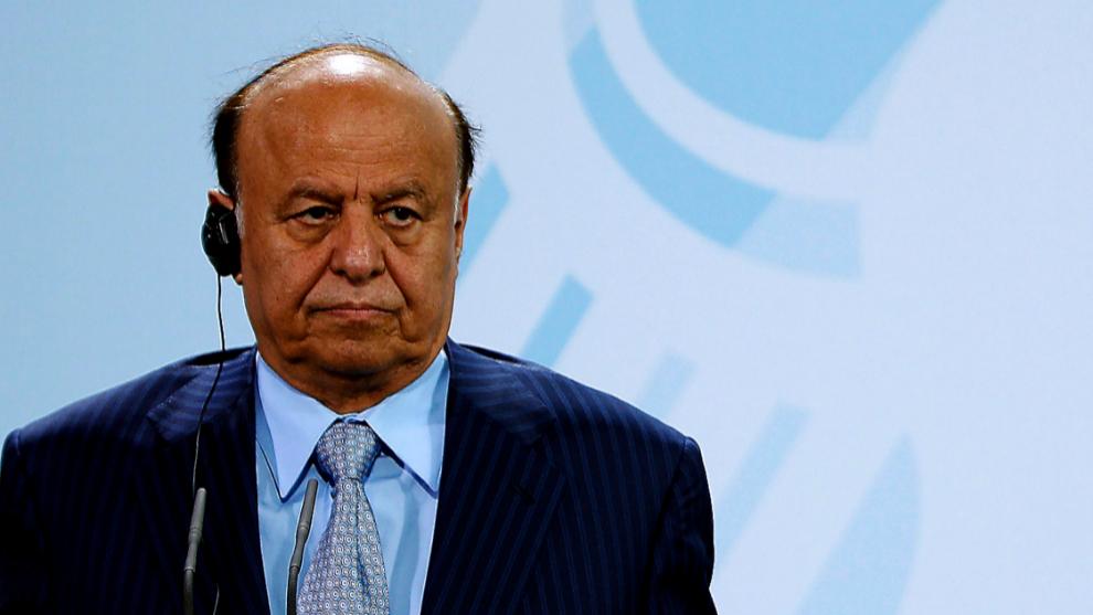 le Président du Yémen Abdrabbo Mansour Hadi