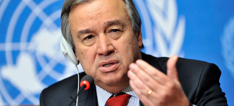le Secrétaire général de l'ONU António Guterres