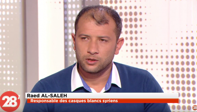 l'un des leaders des Casques blancs Raed al-Saleh.