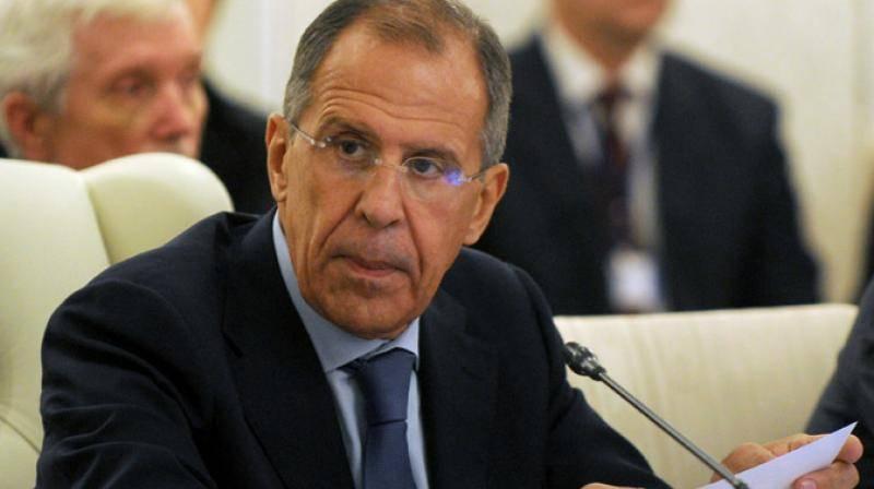 Ministre russe des Affaires étrangères Sergueï Lavrov,