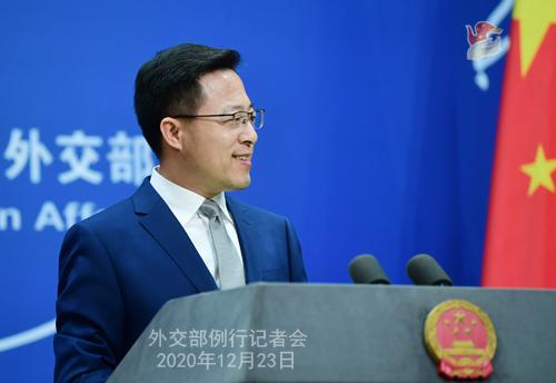 PEKIN 1 Conférence de presse du 23 décembre 2020 tenue par le porte-parole du Ministère des Affaires étrangères Zhao Lijian
