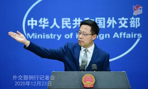 PEKIN 3 Conférence de presse du 23 décembre 2020 tenue par le porte-parole du Ministère des Affaires étrangères Zhao Lijian