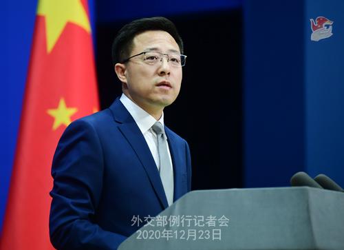 PEKIN 4 Conférence de presse du 23 décembre 2020 tenue par le porte-parole du Ministère des Affaires étrangères Zhao Lijian
