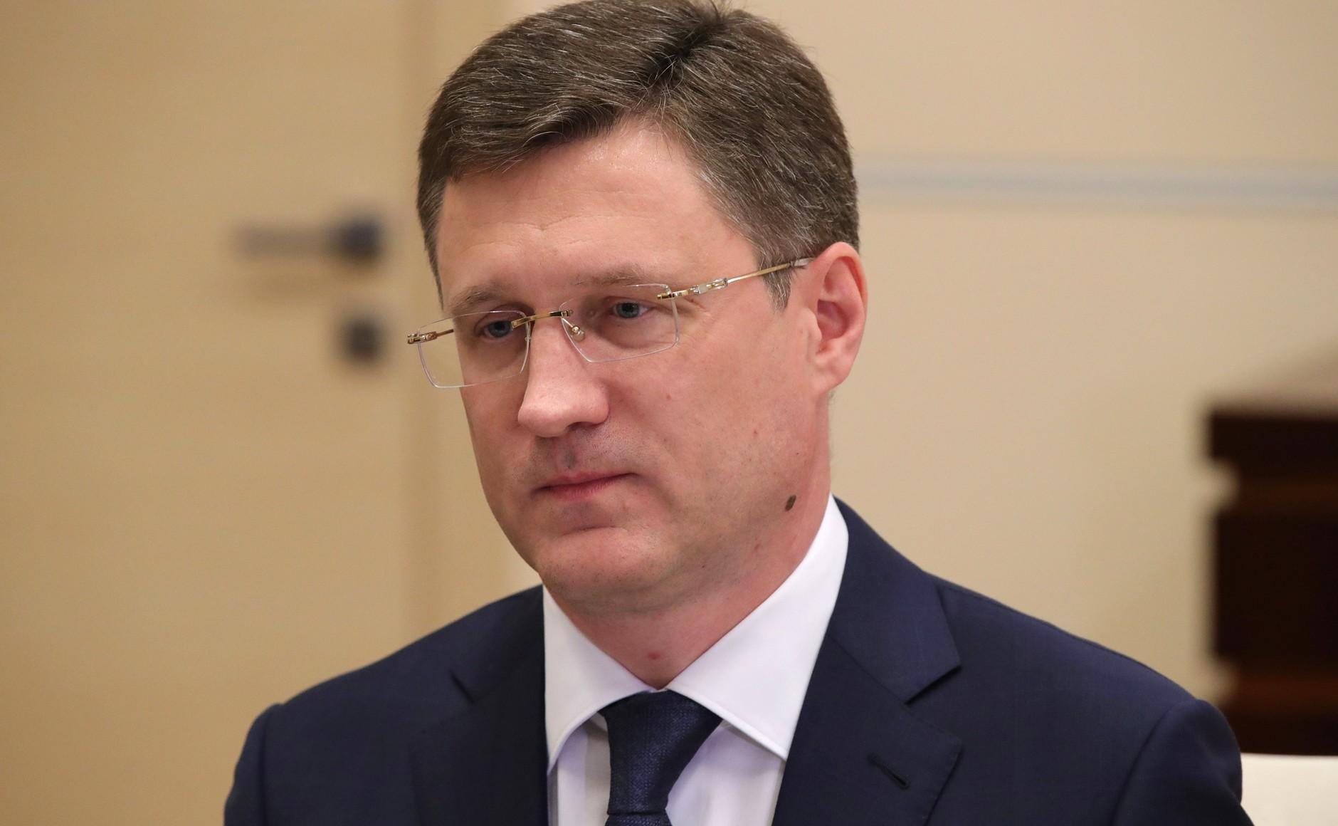PH 2 SUR 4 Rencontre avec le vice-premier ministre Alexander Novak 22.12.2020 l'industrie de l'énergie.