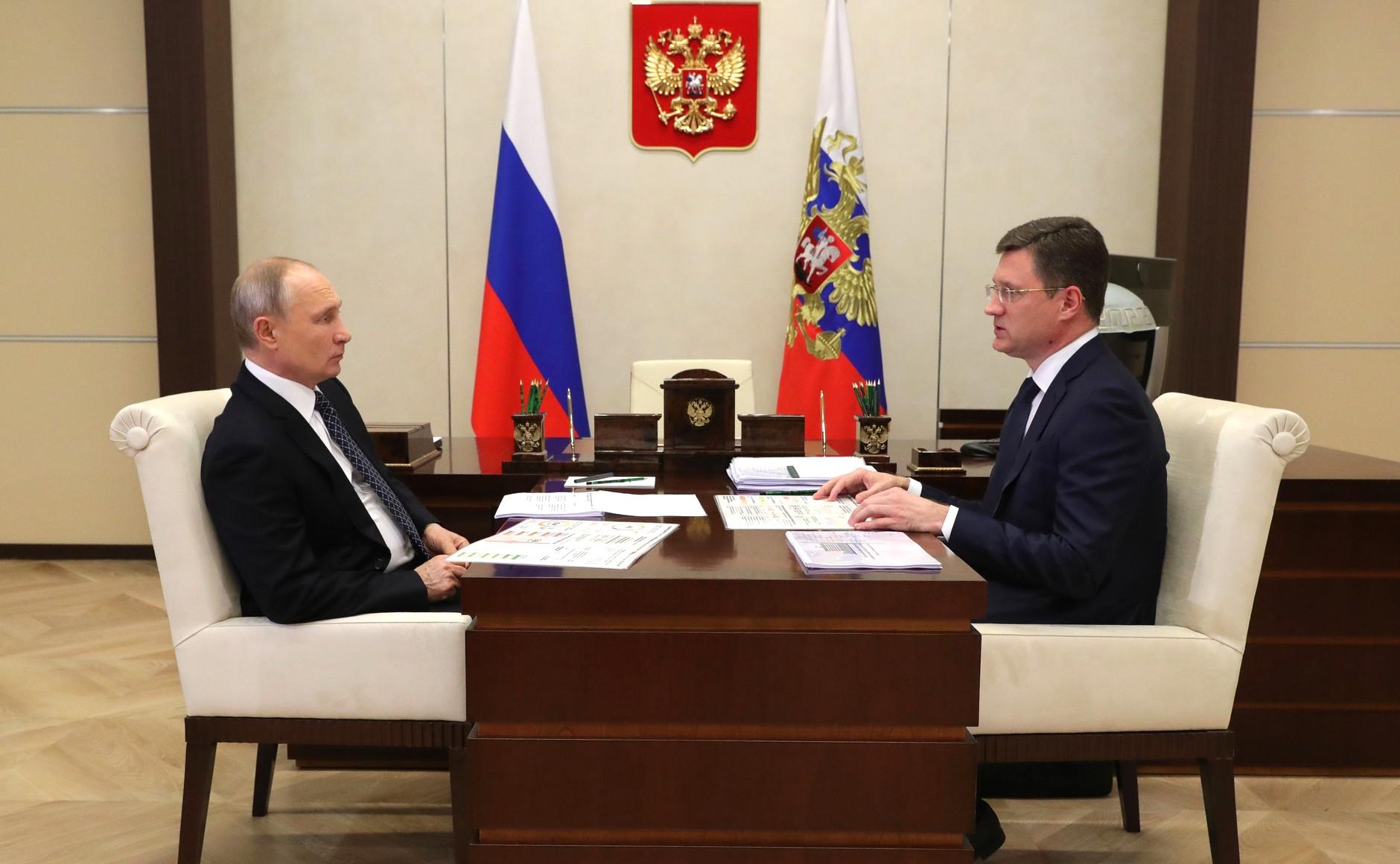 PH 3 SUR 4 Rencontre avec le vice-premier ministre Alexander Novak 22.12.2020 l'industrie de l'énergie.