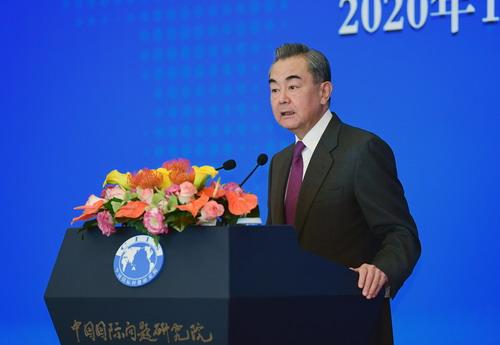 PH 3 Wang Yi participe au Séminaire 2020 sur la situation internationale et les relations extérieures de la Chine et prononce un discours 2020.12.11.