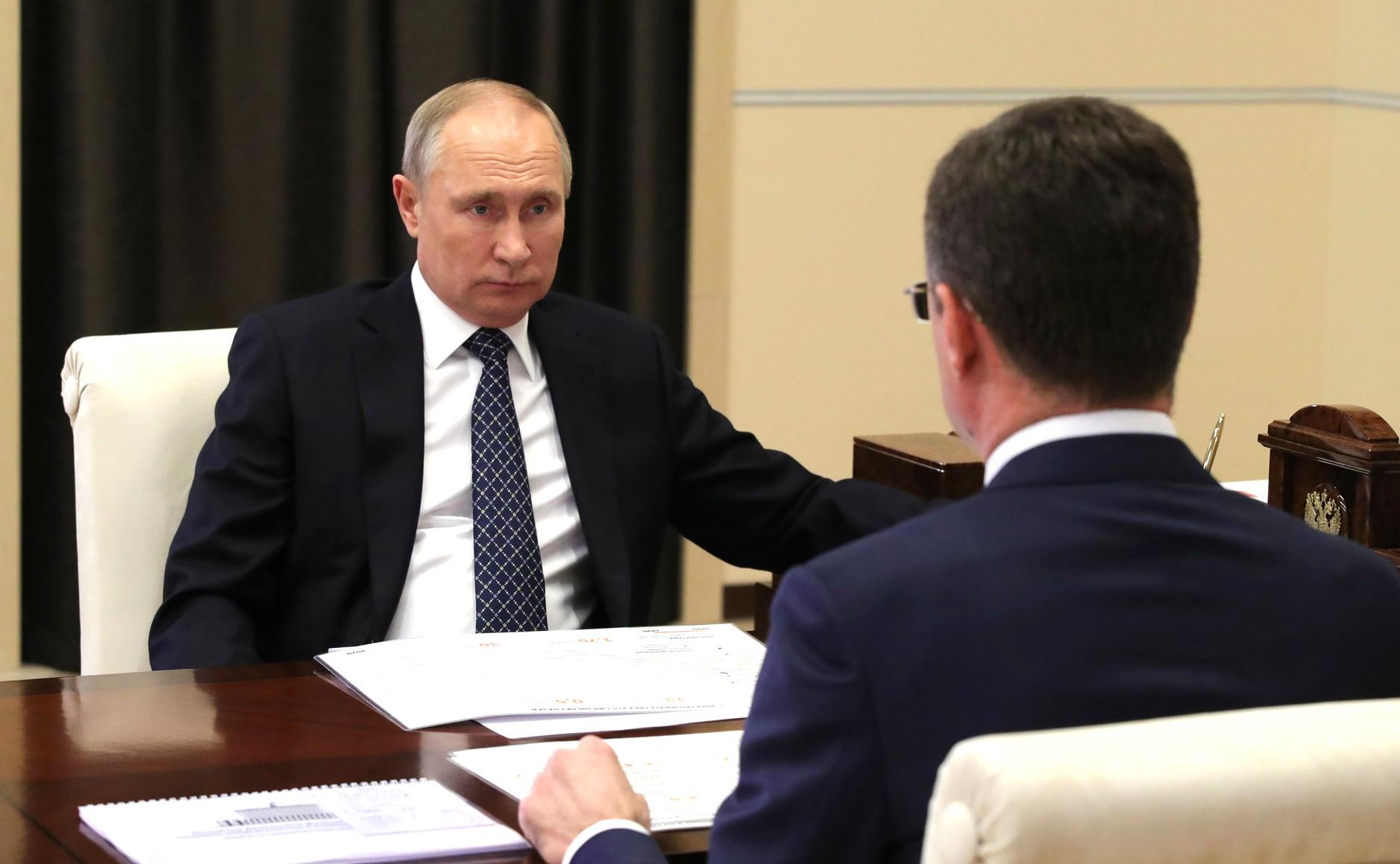 PH 4 SUR 4 Rencontre avec le vice-premier ministre Alexander Novak 22.12.2020 l'industrie de l'énergie.