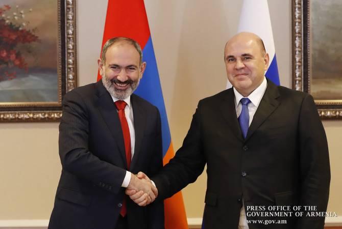 Premier ministre arménien Nikol Pachinian + Premier ministre russe