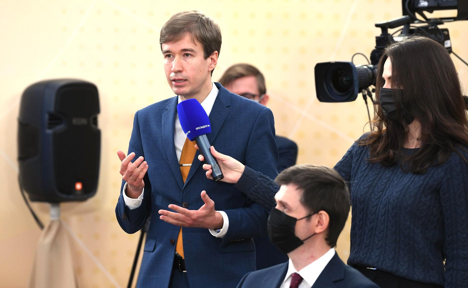 RUSSIE 17.12.2020.CONFERENCE 24 XX 66 Avant le début de la conférence de presse annuelle de Vladimir Poutine.