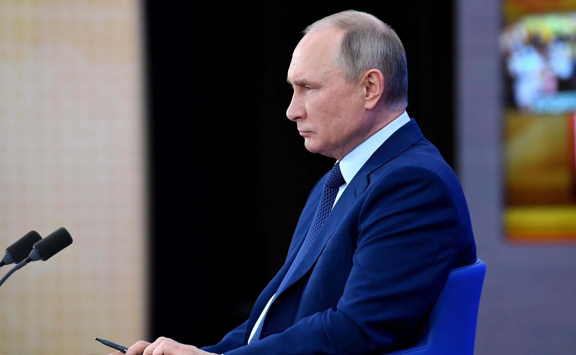 RUSSIE 17.12.2020.CONFERENCE 35 XX 66 Avant le début de la conférence de presse annuelle de Vladimir Poutine.