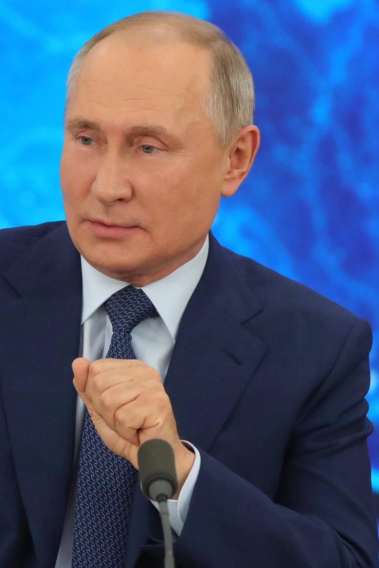 RUSSIE 17.12.2020.CONFERENCE 38 XX 66 Avant le début de la conférence de presse annuelle de Vladimir Poutine.