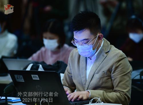 CHINE 10 XX 10 Conférence de presse du 8 janvier 2021 tenue par la porte-parole du Ministère des Affaires étrangères Hua Chunying