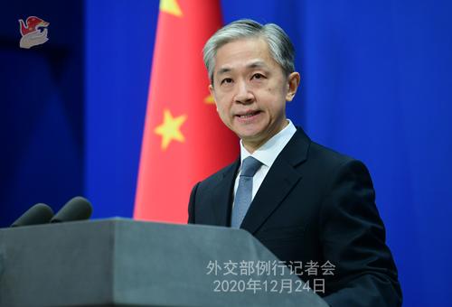 CHINE N° 1 DU 24.12.2020 Conférence de presse du 24 décembre 2020 tenue par le porte-parole du Ministère des Affaires étrangères Wang Wenbin