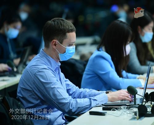 CHINE N° 13 DU 28.12.2020 Conférence de presse du 28 décembre 2020 tenue par le porte-parole du Ministère des Affaires étrangères Zhao Lijian