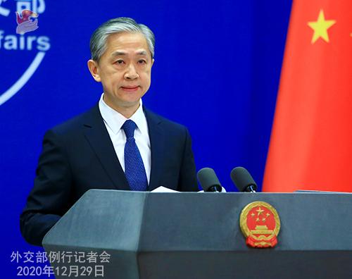 CHINE N° 17 DU 29.12.2020 Conférence de presse du 29 décembre 2020 tenue par le porte-parole du Ministère des Affaires étrangères Wang Wenbin
