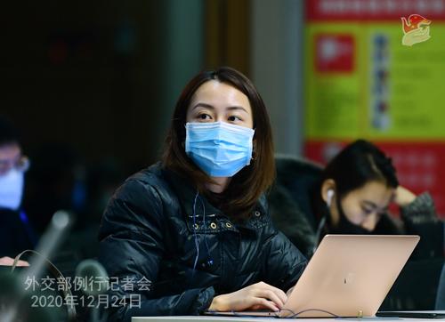 CHINE N° 4 DU 24.12.2020 Conférence de presse du 24 décembre 2020 tenue par le porte-parole du Ministère des Affaires étrangères Wang Wenbin