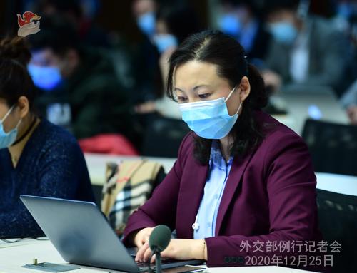 CHINE N° 6 DU 25.12.2020 Conférence de presse du 25 décembre 2020 tenue par le porte-parole du Ministère des Affaires étrangères Wang Wenbin