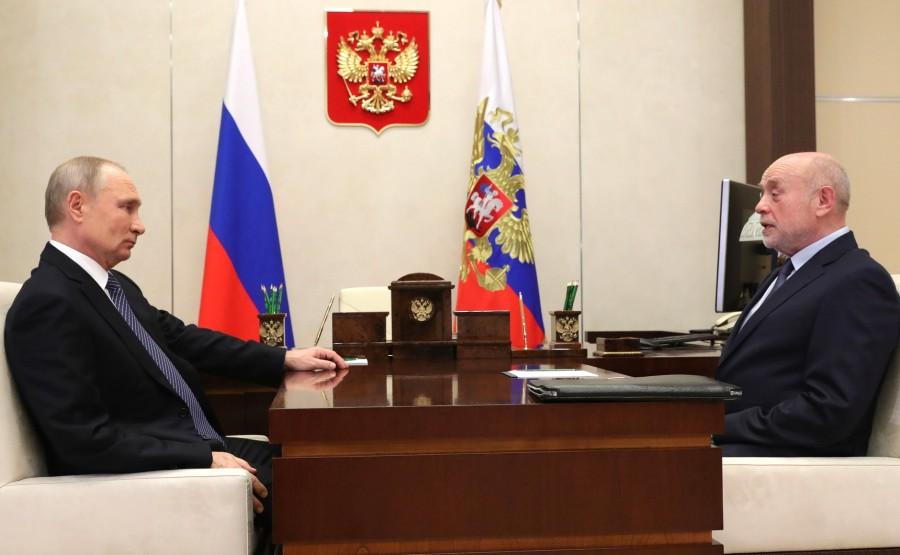 KREMLIN 1 XX 3 Rencontre avec le directeur de l'Institut russe d'études stratégiques Mikhail Fradkov - 18 janvier 2021