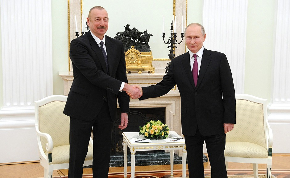 KREMLIN AZERBAIDJAN N 1 SS 2 Rencontre avec le président azerbaïdjanais Ilham Aliyev - 11 janvier 2021 - 18H20