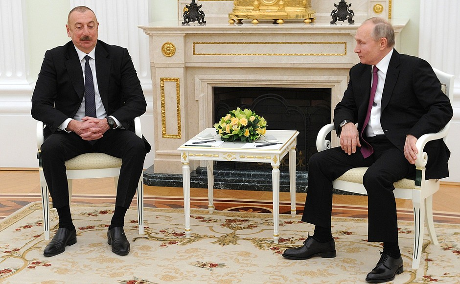 KREMLIN AZERBAIDJAN N 2 SS 2 Rencontre avec le président azerbaïdjanais Ilham Aliyev - 11 janvier 2021 - 18H20