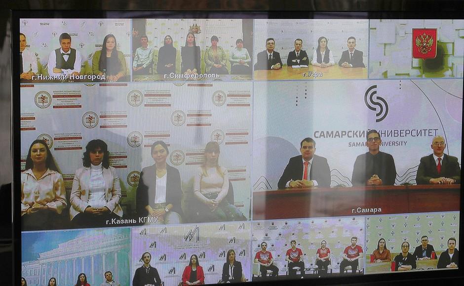 KREMLIN Rencontre 25 PH 2 XX 5 avec des étudiants universitaires pour marquer la journée des étudiants russes 25 janvier 2021