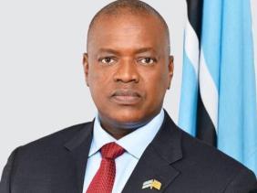 le Président de la République du Botswana, Mokgweetsi Masisi
