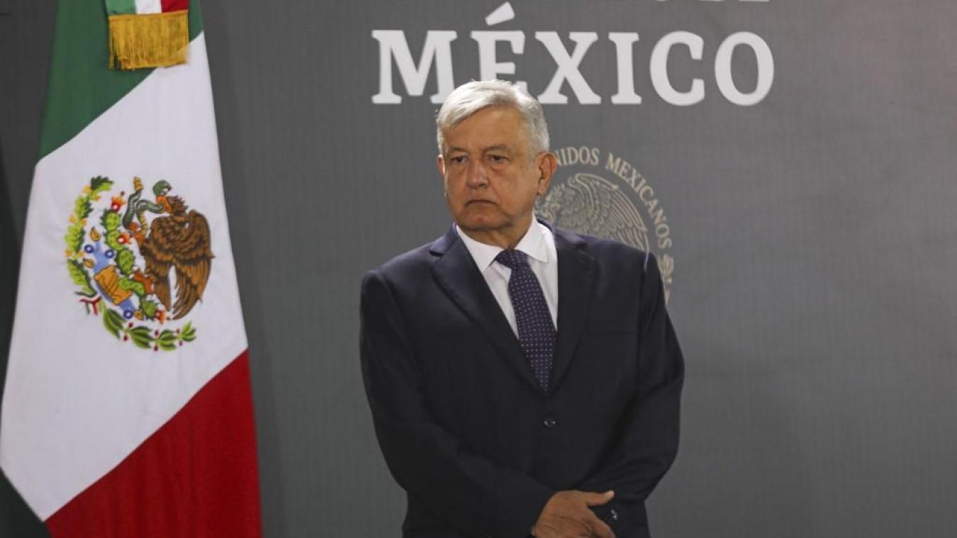 le président mexicain Andres Manuel Lopez Obrador