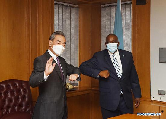 M. Wang a rencontré le Président Mokgweetsi Masisi