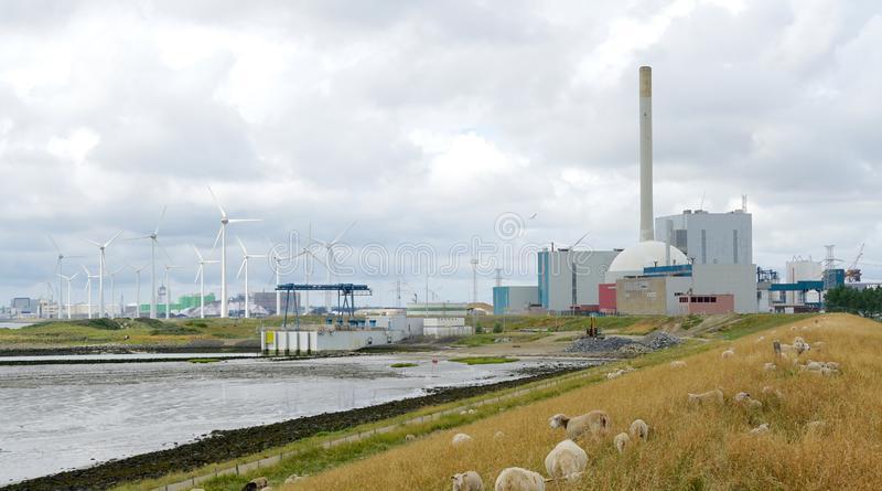 nuclear-power-plant-near-borssele-netherlands-july-owned-run-company-epz-153129318