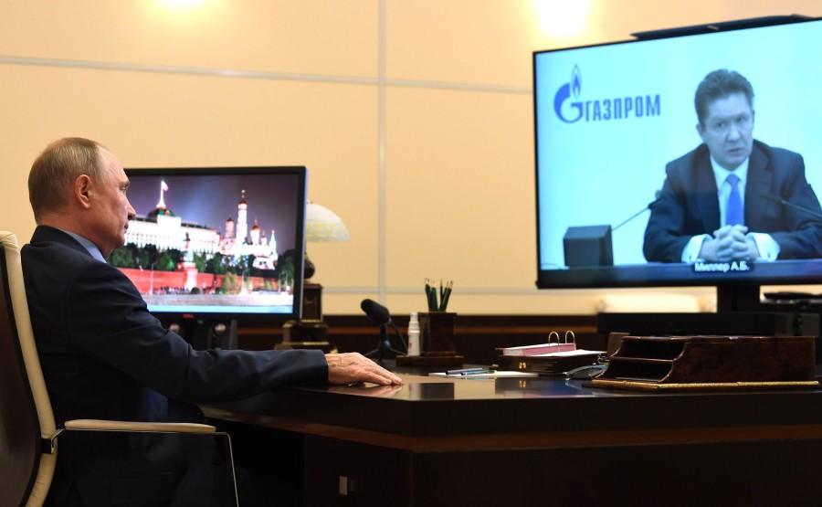 RUSSIE GAZPROM 1 XX 4 Rencontre avec Alexei Miller, PDG de Gazprom - 19 janvier 2021