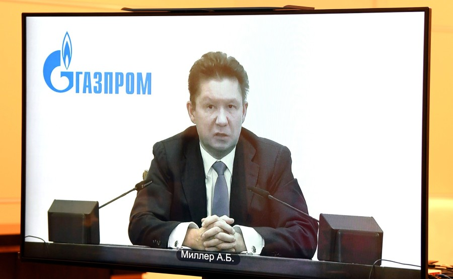 RUSSIE GAZPROM 2 XX 4 Rencontre avec Alexei Miller, PDG de Gazprom - 19 janvier 2021