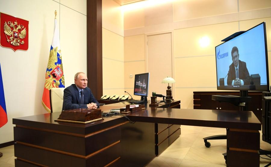 RUSSIE GAZPROM 3 XX 4 Rencontre avec Alexei Miller, PDG de Gazprom - 19 janvier 2021