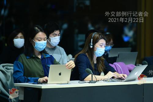 CHINE WW PH 11 Conférence de presse du 22 février 2021 tenue par le porte-parole du Ministère des Affaires étrangères Wang Wenbin