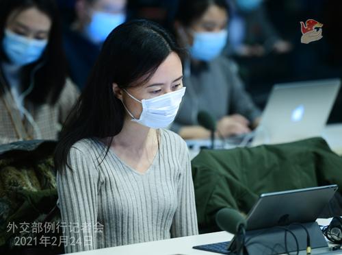 CHINE WW PH 13 Conférence de presse du 24 février 2021 tenue par le porte-parole du Ministère des Affaires étrangères Wang Wenbin
