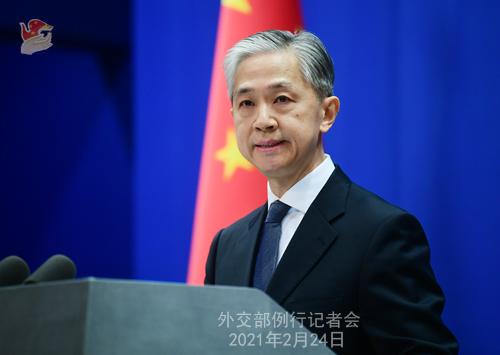 CHINE WW PH 14 Conférence de presse du 24 février 2021 tenue par le porte-parole du Ministère des Affaires étrangères Wang Wenbin