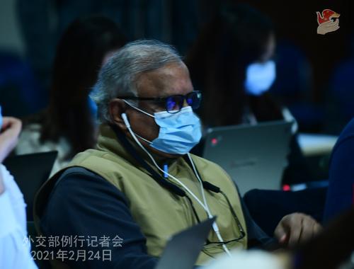CHINE WW PH 15 Conférence de presse du 24 février 2021 tenue par le porte-parole du Ministère des Affaires étrangères Wang Wenbin