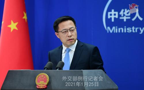 Conférence 25.01 PH 5 ZZ 6 de presse du 25 janvier 2021 tenue par le porte-parole du Ministère des Affaires étrangères Zhao Lijian
